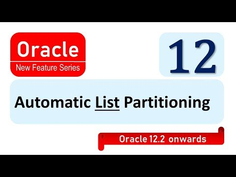 Automatic List partitioning