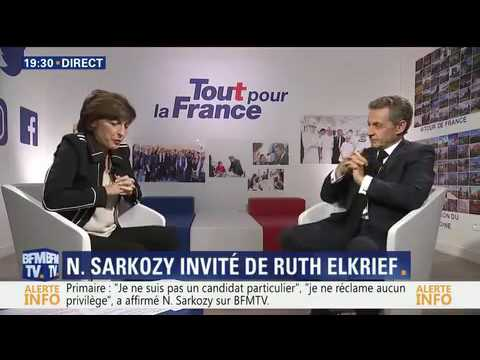 "Nicolas Sarkozy face à Ruth Elkrief "" 22/09/2016 "" à 19 heures(2)"