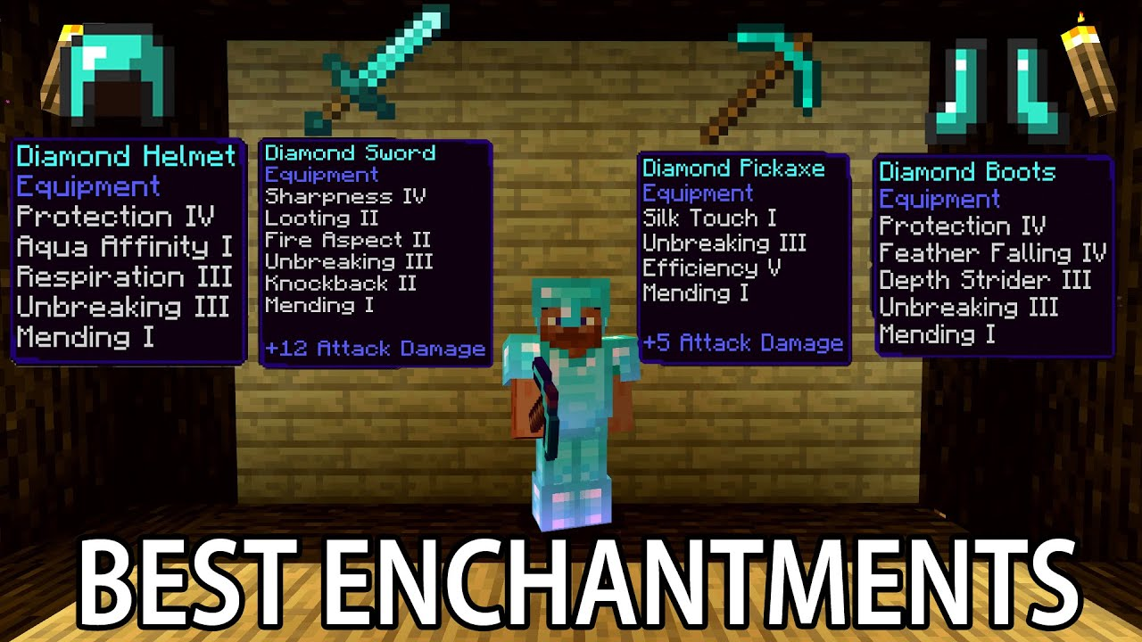 Minecraft BEST ENCHANTMENTS For Armor and Tools - YouTube