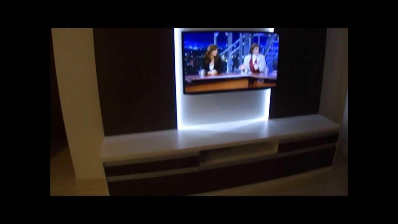 Rack Para Sala De Estar Rj ~ Sala Estar Planejada com Luz LED  YouTube