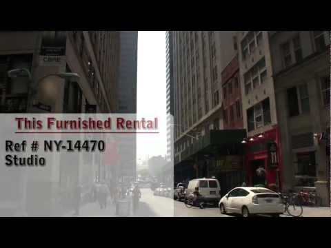 Manhattan, New York - Video Tour of a furnished studio apartment located in the Financial District