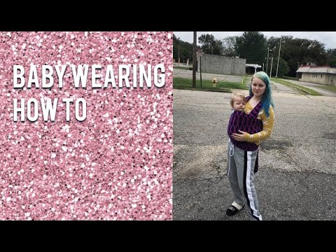 Babywearing Wrap Tutorial How To Use Seven Baby Wrap For