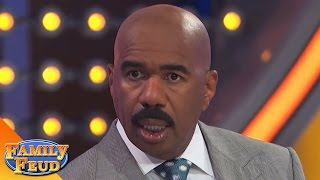 best steve harvey family feud