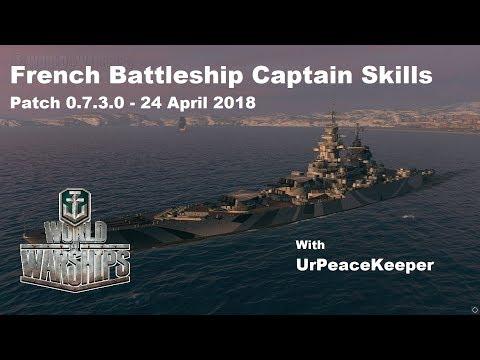 French Battleship Captain Skills In World Of Warships