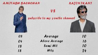 Amitabh Bachchan Vs Rajinikant Comparison