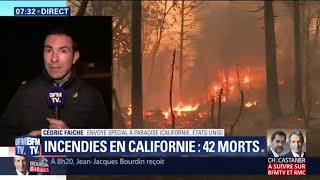 Au moins 42 morts et plus de 200 disparus dans les incendies en Californie