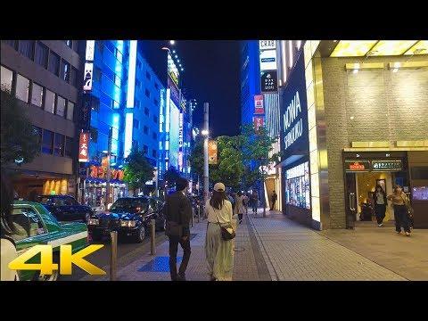 Tokyo Shinjuku late night walk 夜中の新宿散歩 - 4K