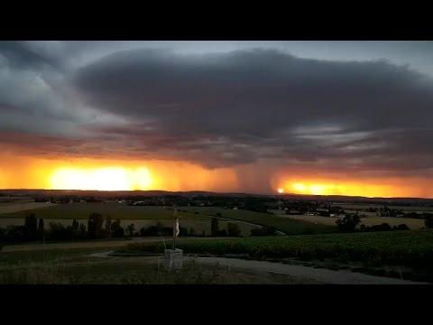 Chasse aux orages - Près de Saint-Yorre - Auvergne-Rhône-Alpes (France)  le 15/08/2016