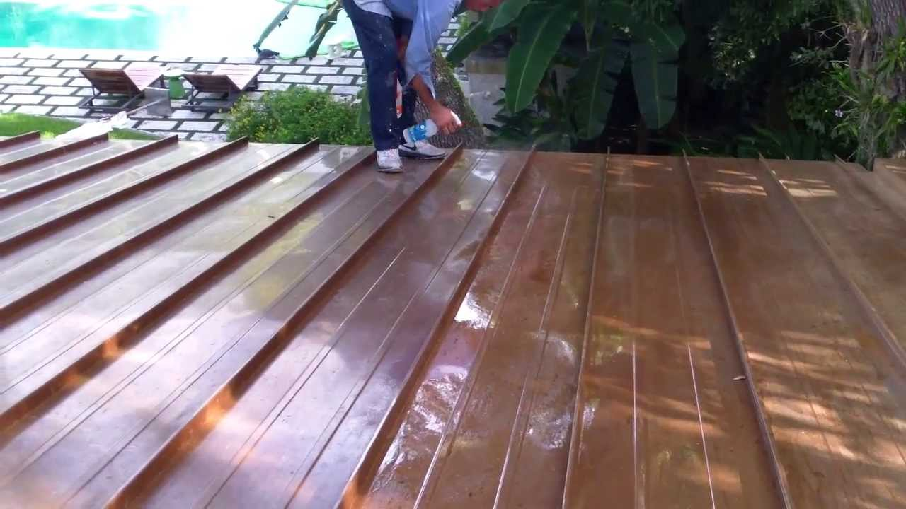 Exceptional Patina Application On Copper Roof In Miami, FL Part 1   Istueta Roofing    YouTube