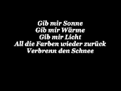 Gib mir Sonne - Rosenstolz (lyrics)
