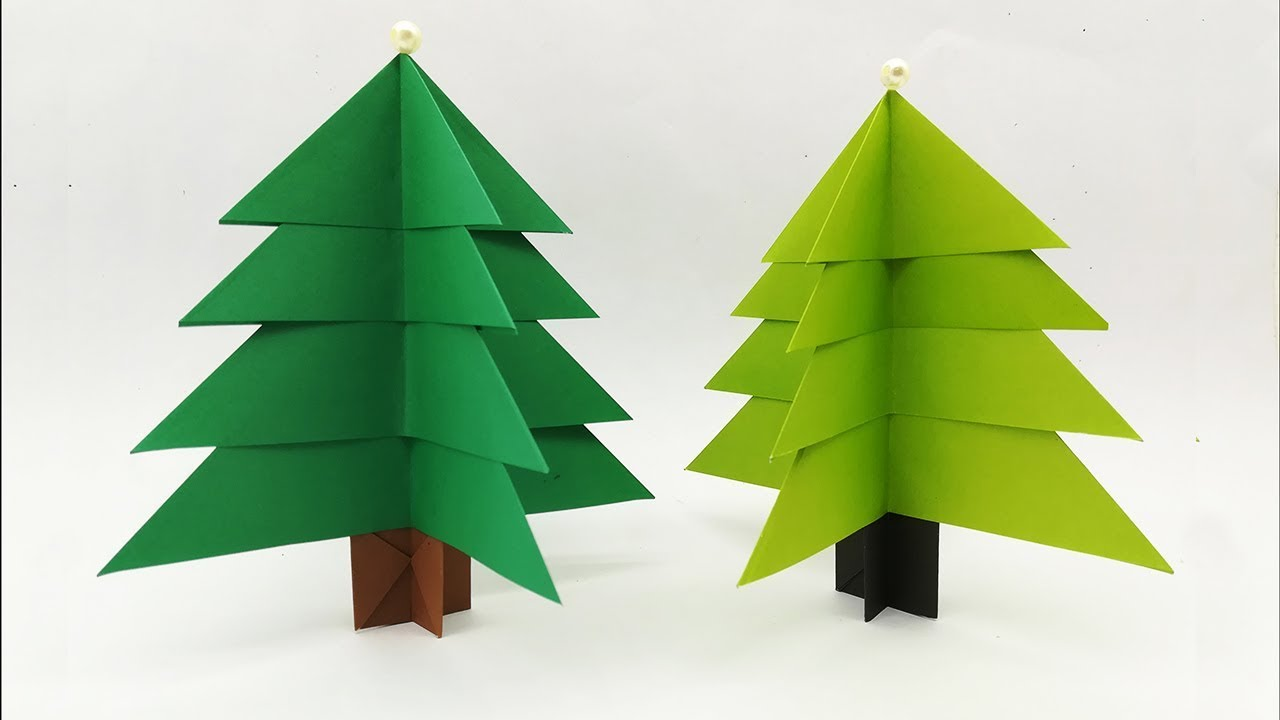 How To Make Easy 3D Paper Xmas Tree | Amazing Decoration Lots of Christmas Trees Diy Crafts ...
