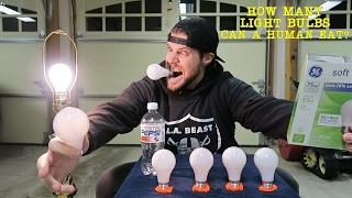 How Many Light Bulbs Can A Human Eat? (Human Science) L.A. BEAST