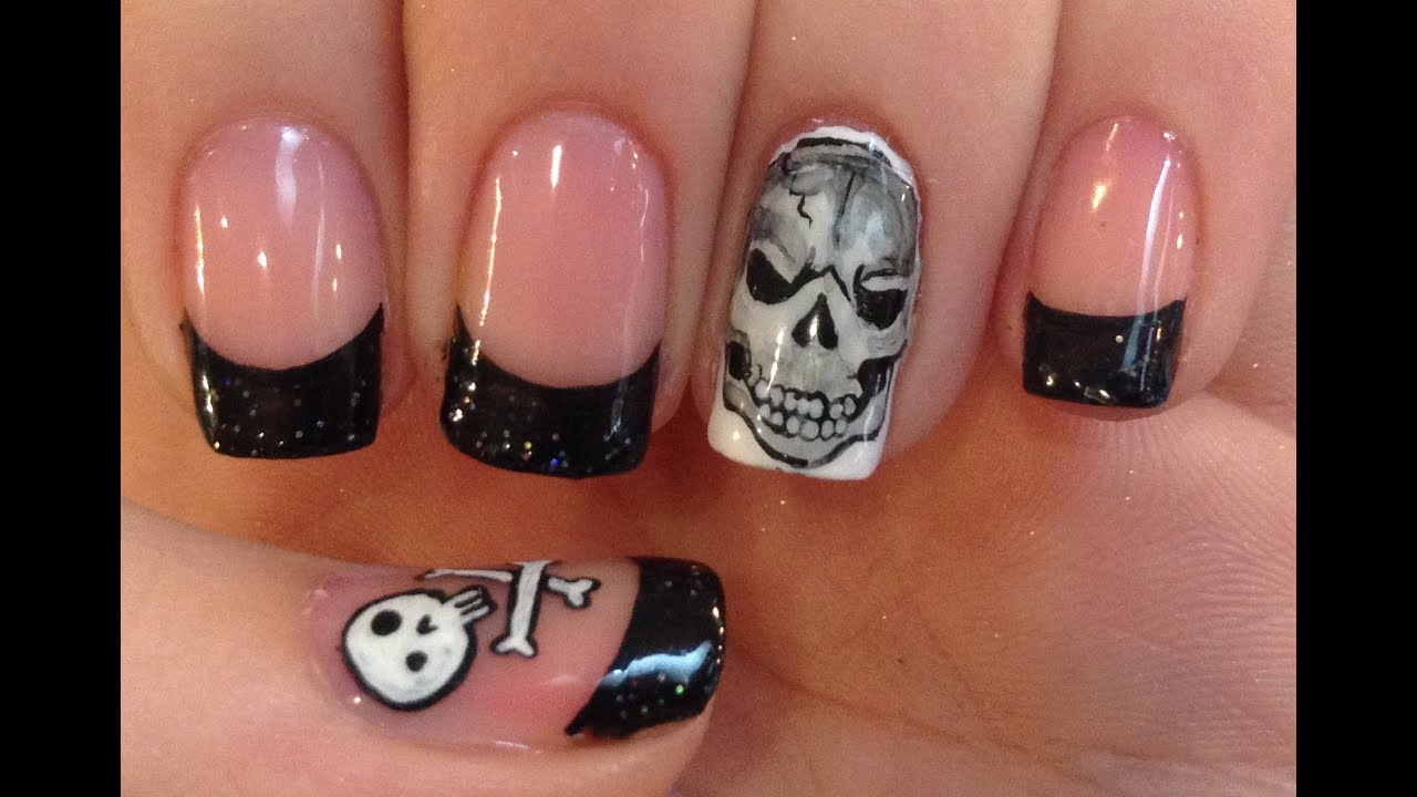 Evil Skull Nail Art Tutorial Youtube