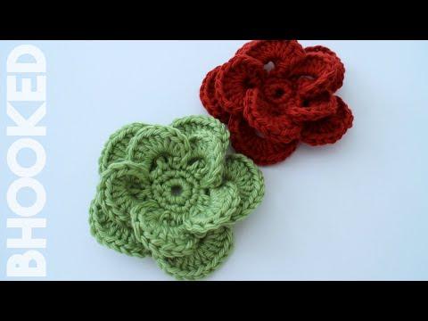Quick Easy Crochet Rose Sewrella Youtube