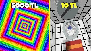 5000 TL DROPPER VS 10 TL DROPPER HARİTASI - Minecraft w/ oğuz aslan