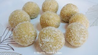 Coconut Ladoo Recipe - Coconut Laddoo Recipe - Laddu Recipe - Ladoo Recipe