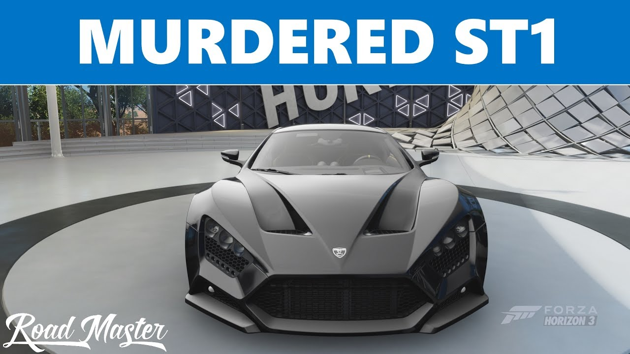 2016 Zenvo ST1 Top Speed Build!!! Forza Horizon 3 - YouTube