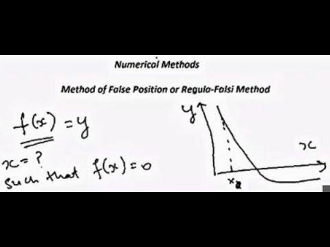 Method of False Position or Regula-Falsi Method (Numerical Methods)