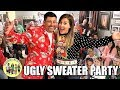 MASSIVE CHRISTMAS UGLY SWEATER PARTY 2018 | UGLY SWEATER WINNERS ANNOUNCED | PHILLIPS FamBam Vlogs
