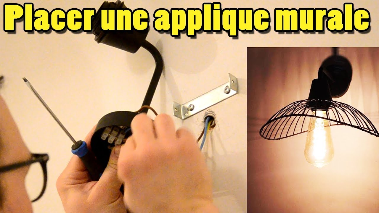 installer une lampe applique murale ou un plafonnier