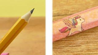 Back to School Idee   Einhorn Stifte selber machen   DIY Idee für die Schule   Unicorn Trend idee