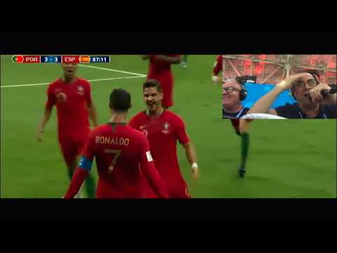 Portugal Spain 3-3 Russia Word Cup 2018 - Radio Speaker - Antena1