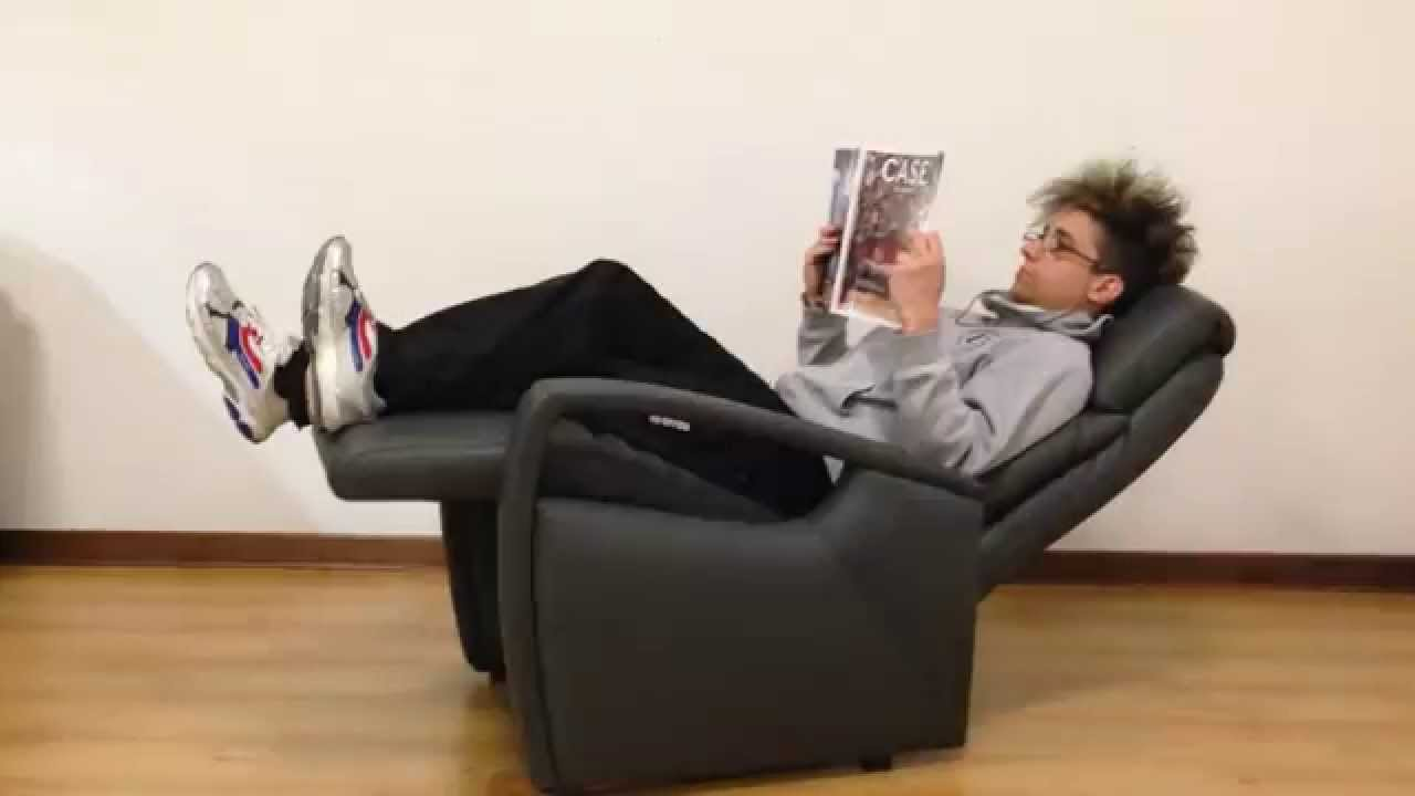 Poltrona relax manuale in pelle test funzionalità youtube