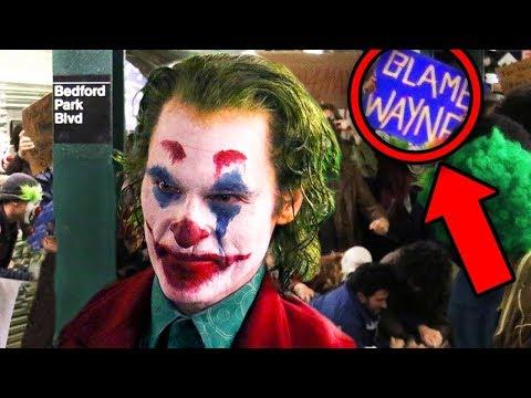 JOKER MOVIE Footage Breakdown! Subway Scene Easter Eggs Explained!
