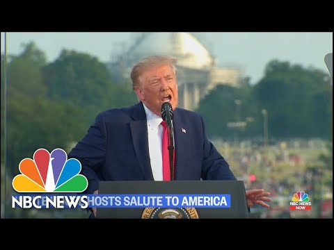 Trump Goes After Left, Blames China For Coronavirus in July 4th Speech | NBC News