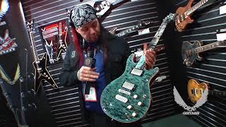 NAMM 2018 Dean Guitars- USA Icon NYC Skyline Trans Aqua