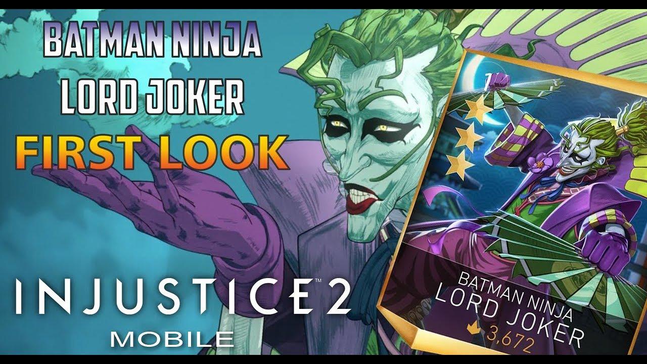 Injustice 2 Mobile Batman Ninja Lord Joker Youtube