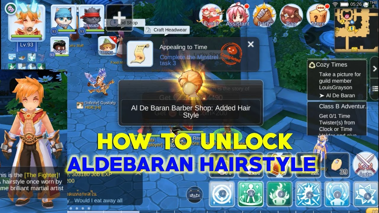 unlock aldebaran hairstyle - ragnarok mobile eternal love - youtube