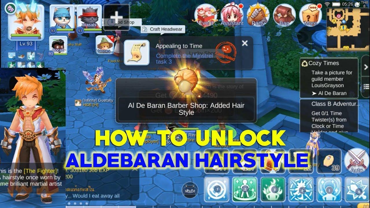 unlock aldebaran hairstyle - ragnarok mobile eternal love