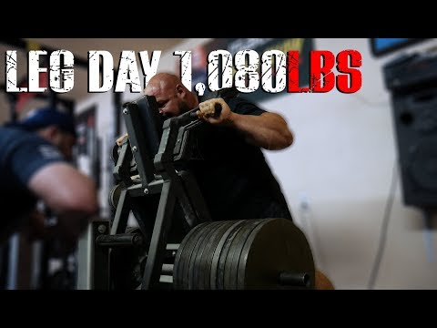 1,080LB POWER SQUAT | LEG DAY TRAINING HIGHLIGHTS | 4X WSM BRIAN SHAW