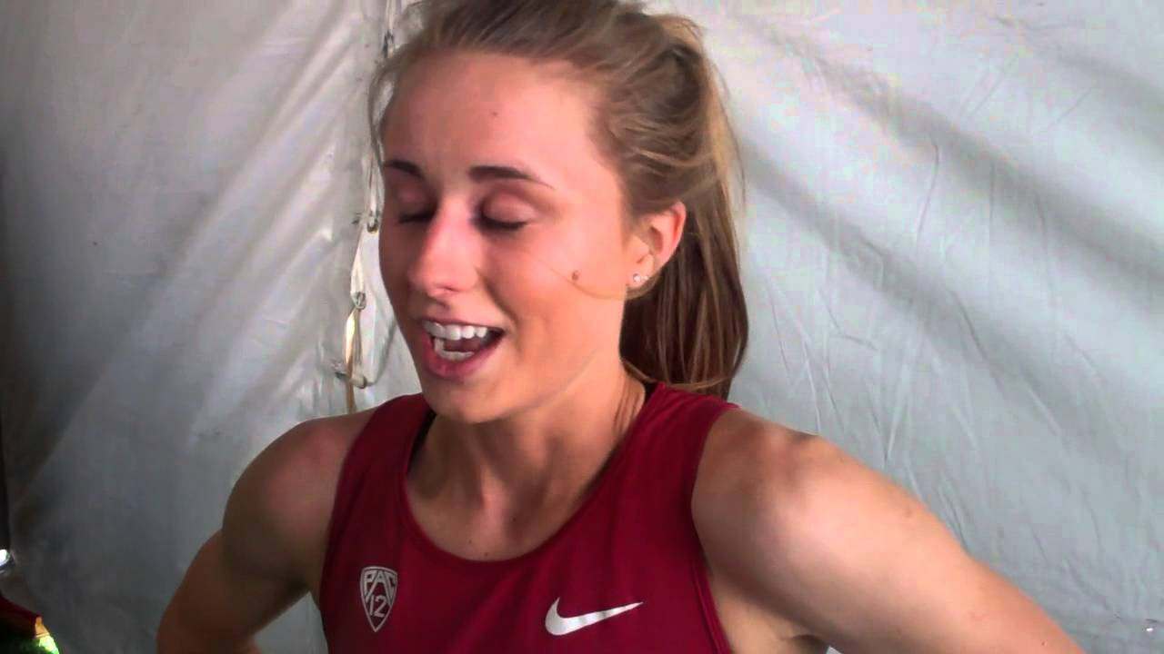 Stanford's Jessica Tonn talks after the end of her NCAA track career