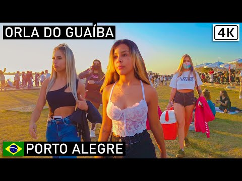 Guaíba Shore, Saturday Afternoon 🇧🇷 Porto Alegre, Southern Brazil  【4K】2021