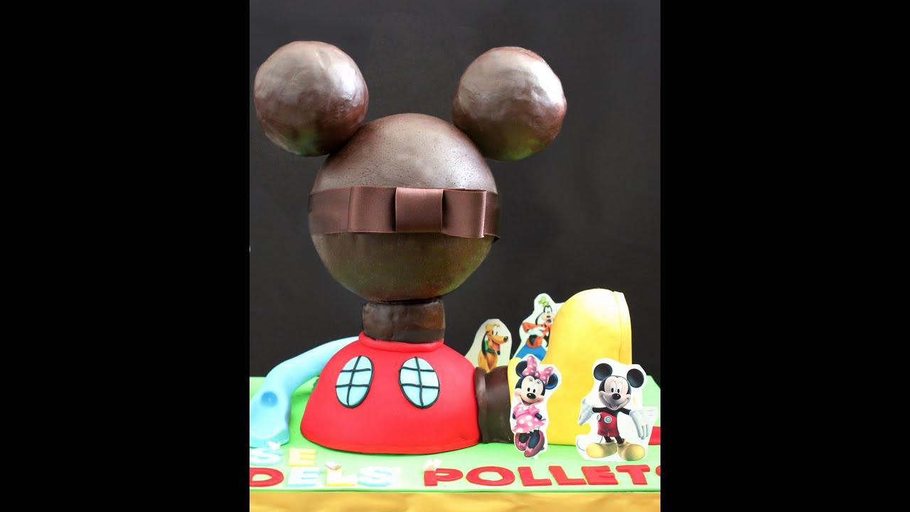 Paso a paso tarta la casa de mickey mouse segunda parte - Youtube casa mickey mouse ...