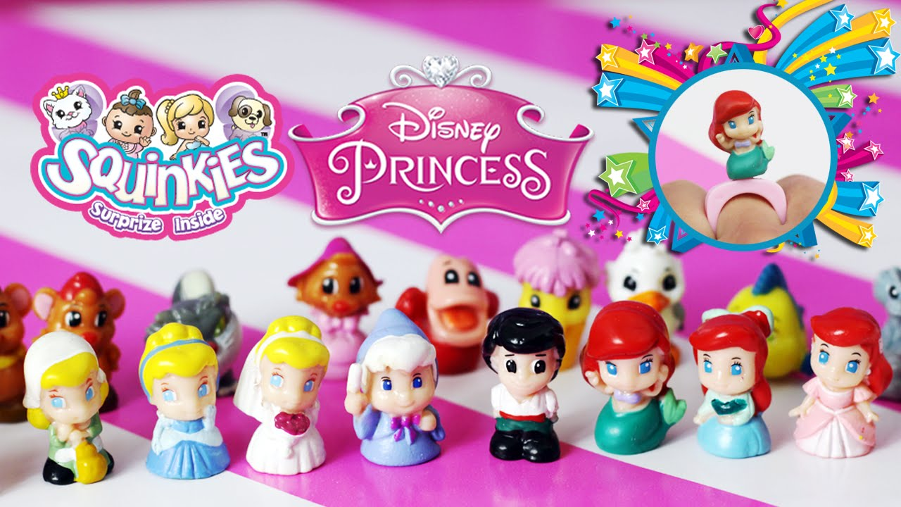 Squinkies Disney Princess Themed Ring Collector Unboxing - YouTube