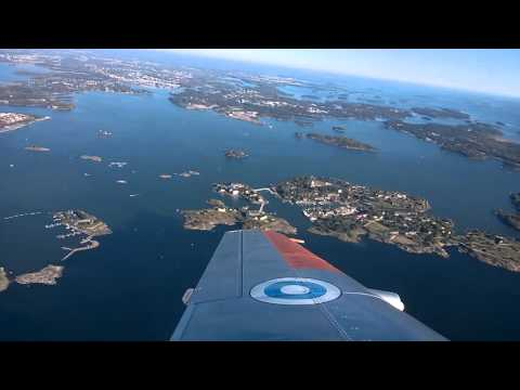 Saab Safir over Helsinki