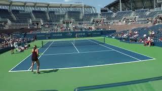 Jelena Ostapenko full practice set with Lucie Safarova at the US Open 2017. (Full HD/60fps)
