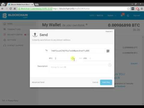 All about Blockchain. Send and receive. Locate your wallet address and hashcode