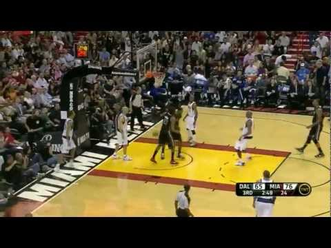 Lebron James (power alley oop from Wade) 19 points vs Dallas Mavericks full highlights 03.29.2012