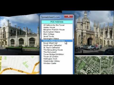 Google Maps in Excel ➜ Demo Workbook