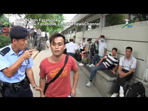 2012.09.15 - Flash mob in Sheung Shui against unwelcomed passengers