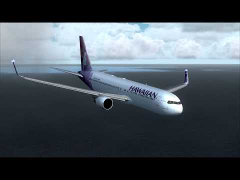 FSX Movie HD Boeing 767 Landing in the Marshall Islands