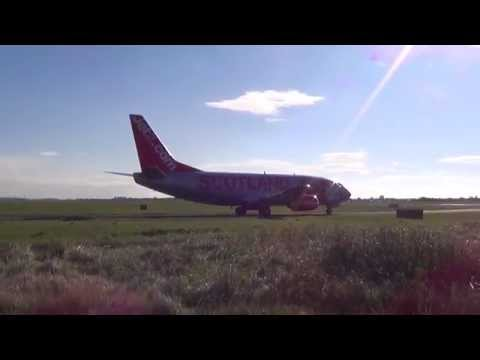 More blackpool airport archive-Jet2 Scotland Boeing 737 nice sunny take-off