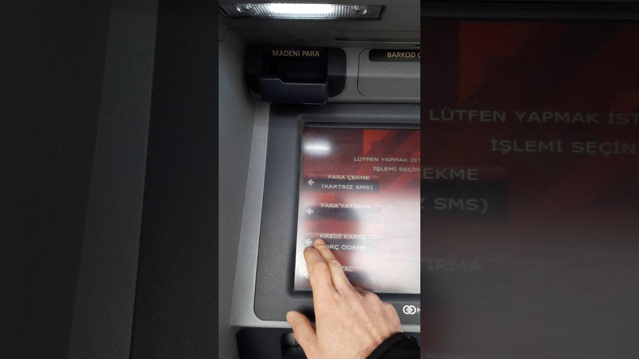 Ziraat bankası atm kartsız işlemler(Para Yatırma,Para çekme,kredi kart borcu ödeme,ödeme işlemleri)