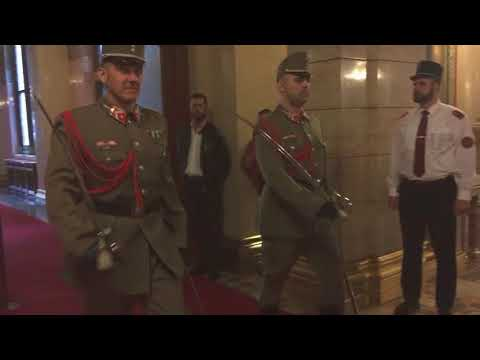 Changing of the Guard Of Hungarian Crown Jewels