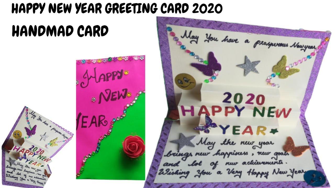 new year greeting card making diy beautiful card making