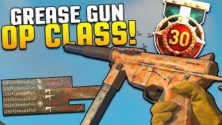 "How To Make ""OVERPOWERED GREASE GUN!!"" Best Class Setup [COD WW2 Gameplay] WORLD WAR 2"